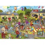 Puzzle  Jumbo-19126 Wasgij Junior - Monsterfest