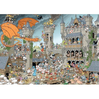Puzzle Jumbo-19202 Rob Derks Pieces of History - Die Burg