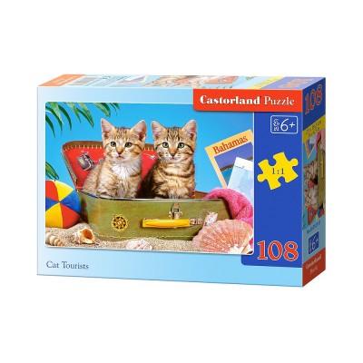 Puzzle Castorland-010141 Kätzchen auf Reise