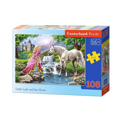 Puzzle Castorland-010158 Die Prinzessin und ihr Pferd