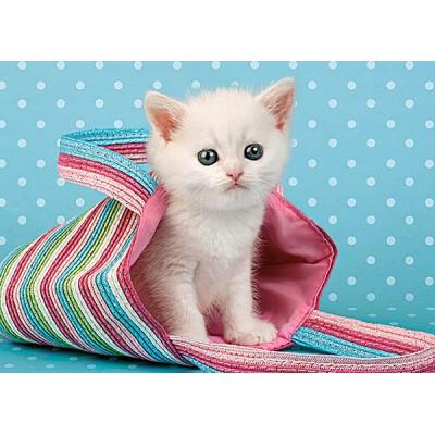 Puzzle Castorland-010172 Kätzchen in der Tasche