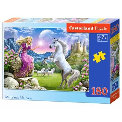 Puzzle Castorland-018024 Mein Freund, das Einhorn