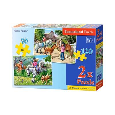 Puzzle Castorland-021062 Reiten