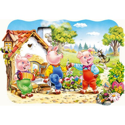 Puzzle Castorland-02184 Die drei kleinen Schweinchen
