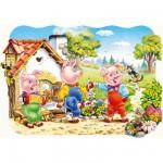 Puzzle  Castorland-02184 Drei kleine Schweinchen