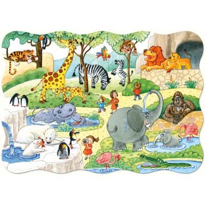 Puzzle Castorland-02221 Im Tiergarten