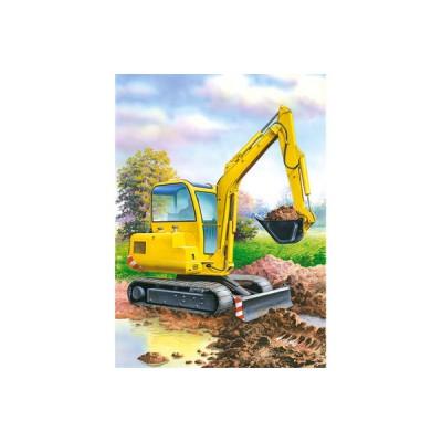 Puzzle Castorland-02405-BM1 Schaufelbagger