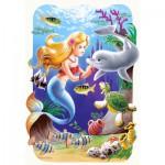 Puzzle  Castorland-03273 Die kleine Meerjungfrau