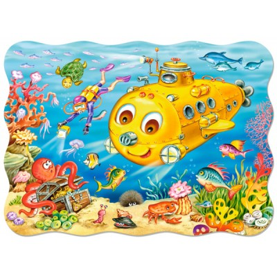 Puzzle Castorland-03396 Fröhliche Unterwasserwelt