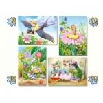 Castorland-04270 4 Puzzles: Märchen