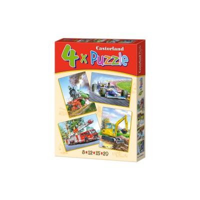 Puzzle Castorland-04317 Fahrzeuge