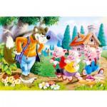 Puzzle  Castorland-06519 Drei kleine Schweine