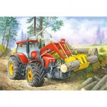Puzzle  Castorland-06601 Holzfäller