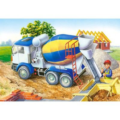 Puzzle Castorland-06618 Baustelle
