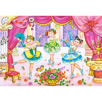 Puzzle Castorland-06687 Kleine Ballerinas