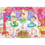 Puzzle  Castorland-06687 Die kleinen Ballerinas