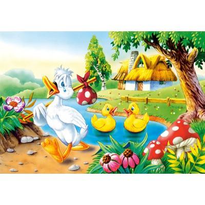 Puzzle Castorland-08521-B09 Das hässliche Entlein