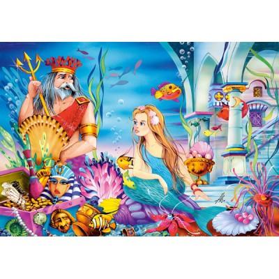 Puzzle Castorland-08521-B15 Die kleine Meerjungfrau