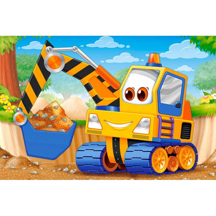Minipuzzle - Baufahrzeug