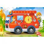 Castorland-08521-BP4 Minipuzzle - Feuerwehr