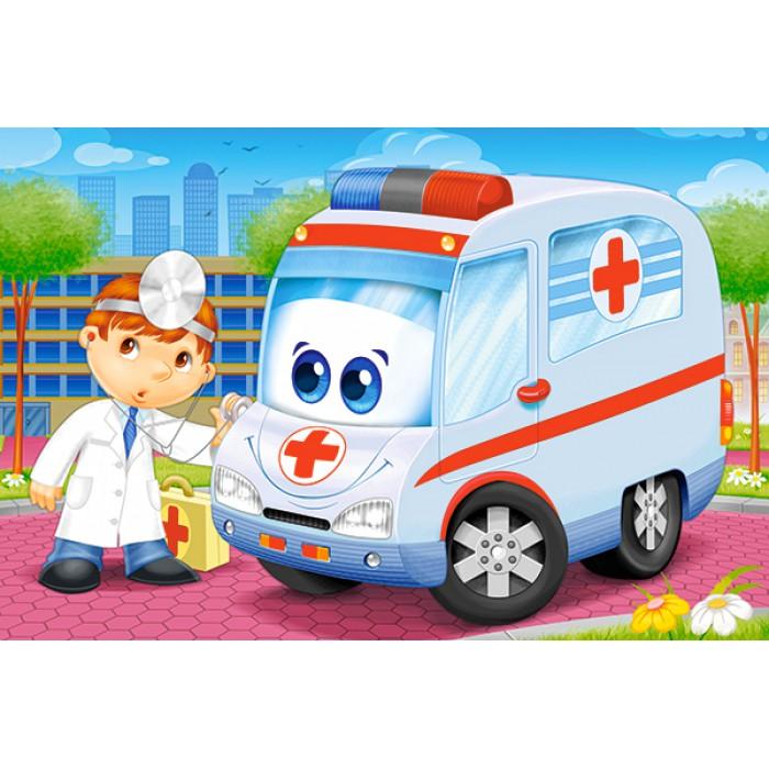 Minipuzzle - Krankenwagen