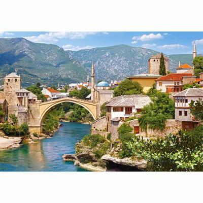 Puzzle Castorland-102495 Mostar, Bosnien Herzegowina