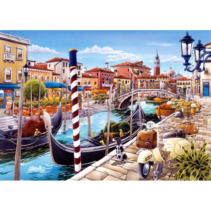 Venezianischer Kanal in Italien