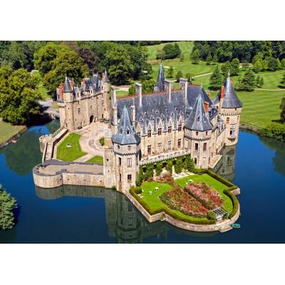 Puzzle Castorland-103072 Château de la Bretesche, Loiretal