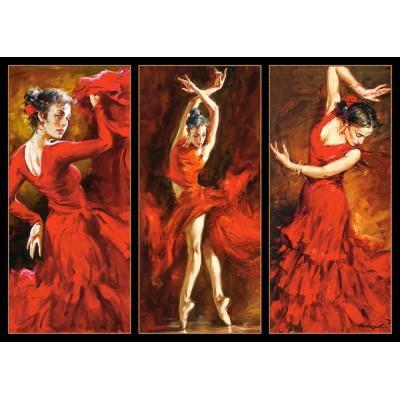 Puzzle Castorland-103119 Andrew Atroshenko: Rote Tänzerinnen