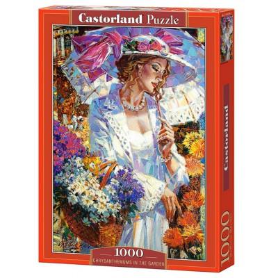 Puzzle Castorland-103294 Chrysanthemen im Garten