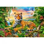 Puzzle  Castorland-103300 König des Dschungels