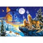 Puzzle  Castorland-103317 Heulende Wölfe