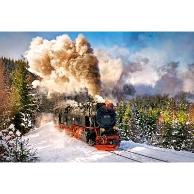Puzzle Castorland-103409 Dampflokomotive