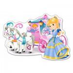 Puzzle  Castorland-120017 Die Kutsche der Prinzessin