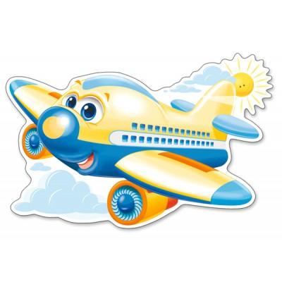 Puzzle Castorland-120031 Fröhliches Flugzeug
