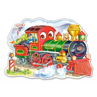 Puzzle Castorland-120055 Die Lokomotive