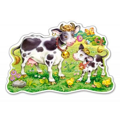 Puzzle Castorland-120062 Kühe auf der Weide