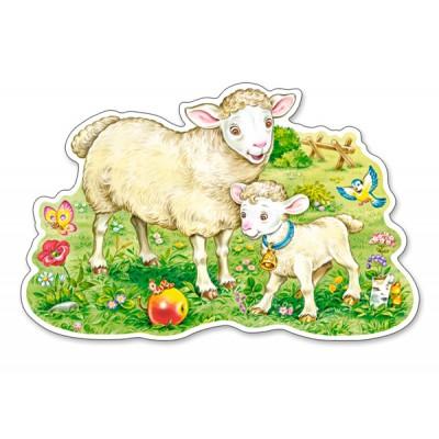 Puzzle Castorland-120079 Das Lamm und seine Mama