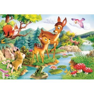 Puzzle Castorland-12725 Das kleine Reh