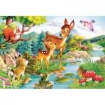 Puzzle  Castorland-12725 Tiere im Wald