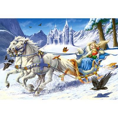 Puzzle Castorland-12879 Die Königin des Bergs