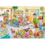Puzzle  Castorland-13104 Beim Tierarzt