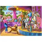 Puzzle  Castorland-13135 Das drehende Karussell