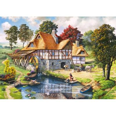 Puzzle Castorland-200498 Die Wassermühle