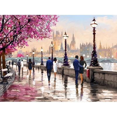 Puzzle Castorland-200566 Entlang des Flusses