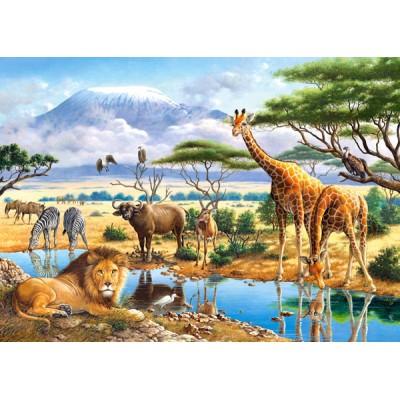 Puzzle Castorland-21031 Savanne und Dschungel
