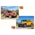 Castorland-21086 2 Puzzles - Fahrzeuge