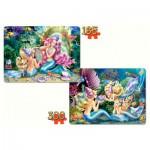 Castorland-21109 2 Puzzles - Meerjungfrauen