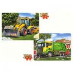 Puzzle  Castorland-21130 Arbeitsfahrzeuge