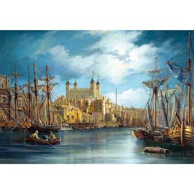 Puzzle Castorland-300167 Ein Neuer Tag im Hafen